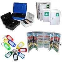 CASH BOX, KEY BOX, FIRST AID KITS