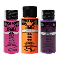 Folkart Neon Matte Acrylic Paints