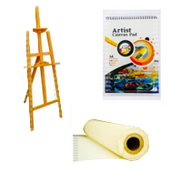 Easels & Canvas