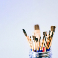Brushes, Paints & Mediums