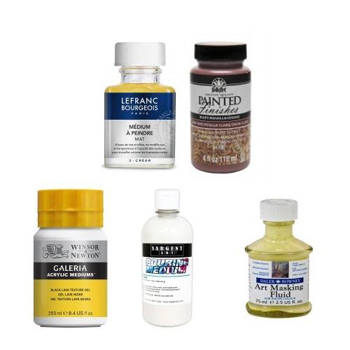 Finishes, Oils & Mediums