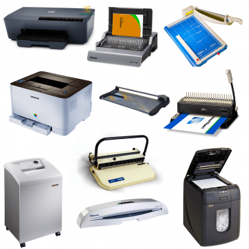 OFFICE MACHINES & DISPLAY ITEMS