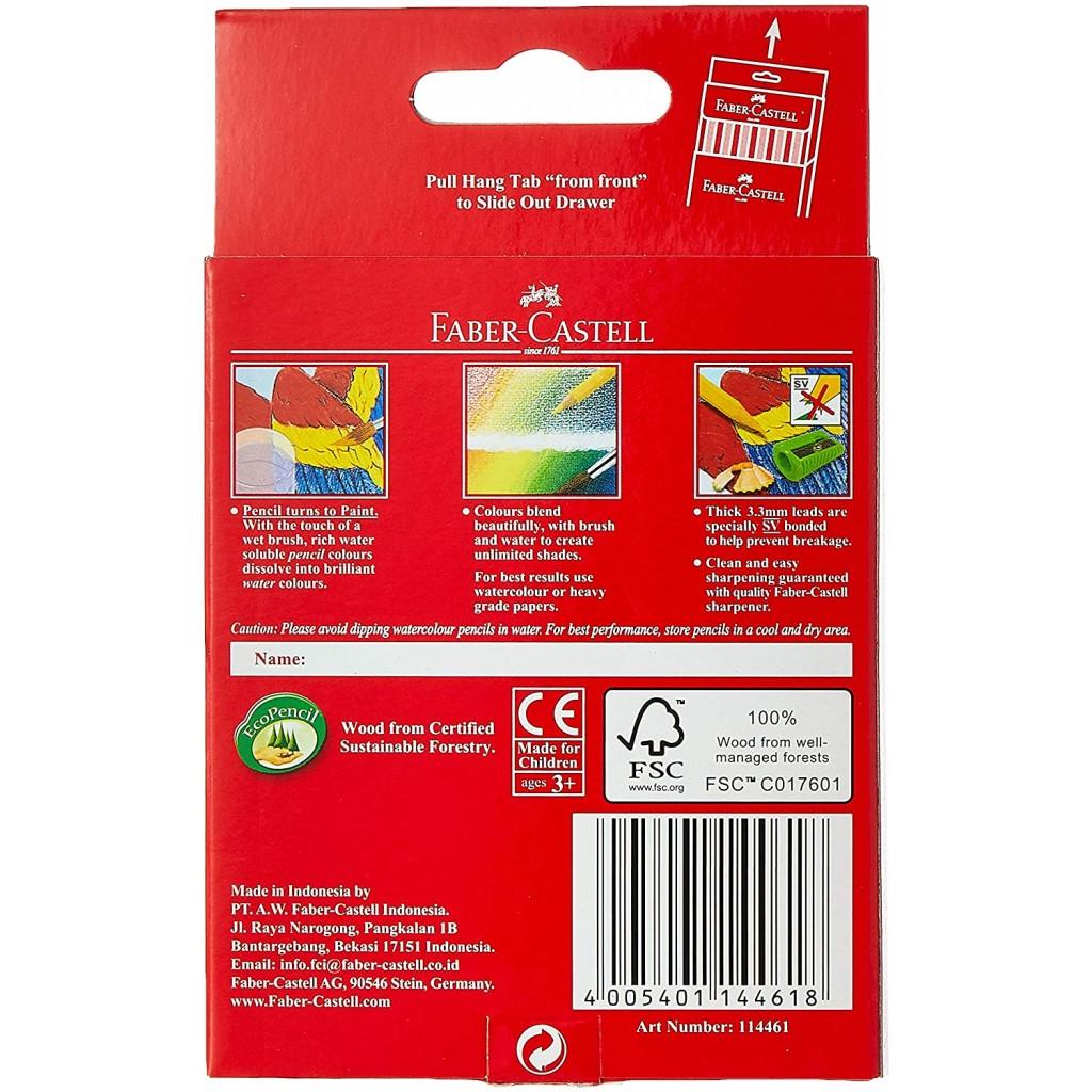 buy online faber-castell cardboard 12 color half size