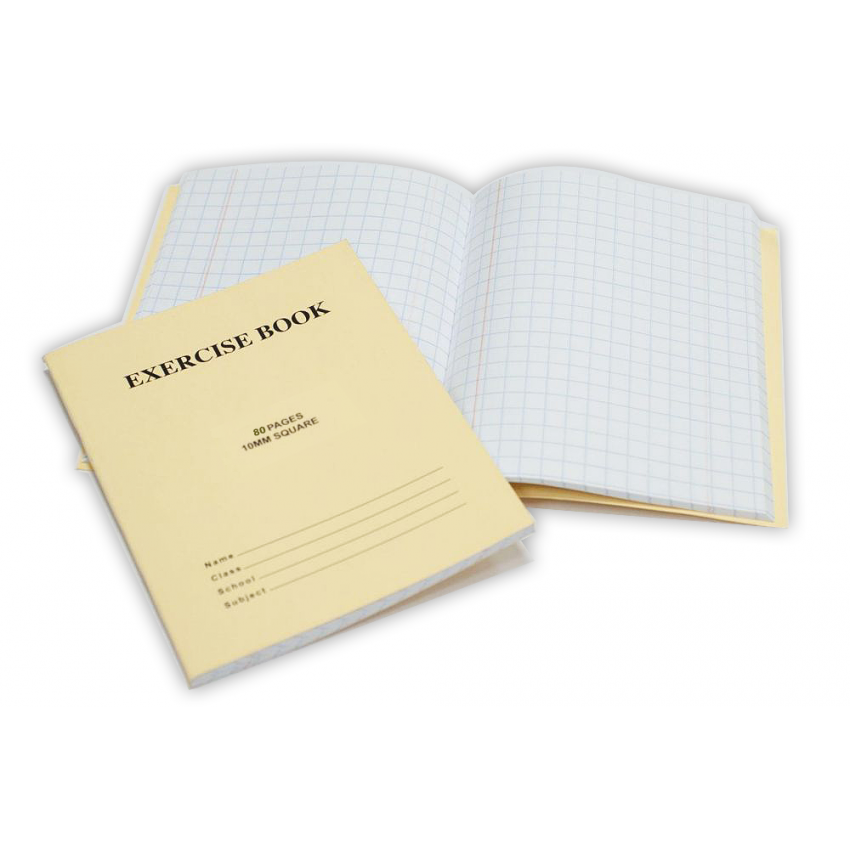 Notebook10mm Squared 80 Pages