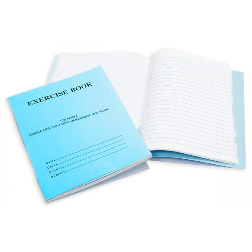 Notebook Single Line with One Side Plain 120 Pages (interleaf)