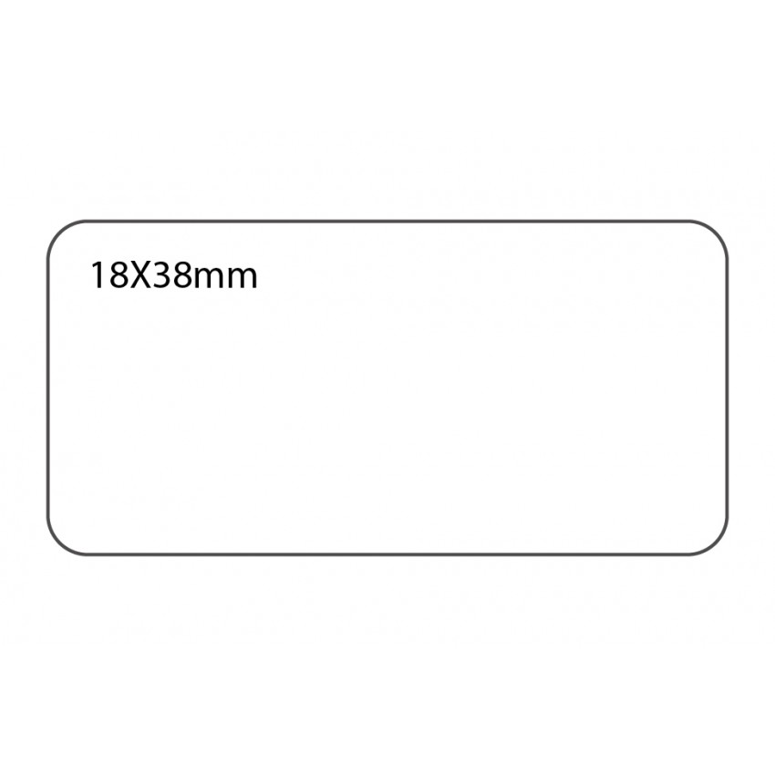 SELF ADHESIVE OFFICE LABEL-18X38mm