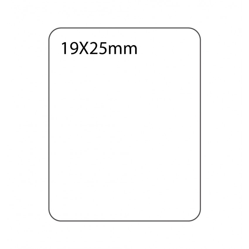SELF ADHESIVE OFFICE LABEL-19X25mm