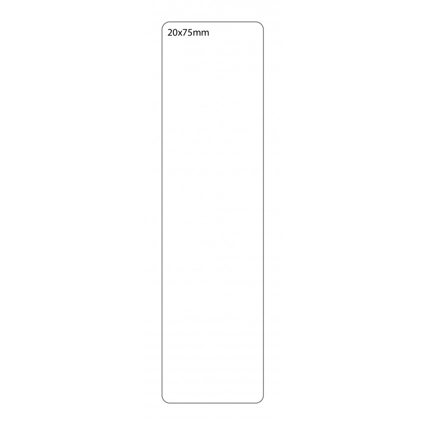 SELF ADHESIVE OFFICE LABEL-20X75mm