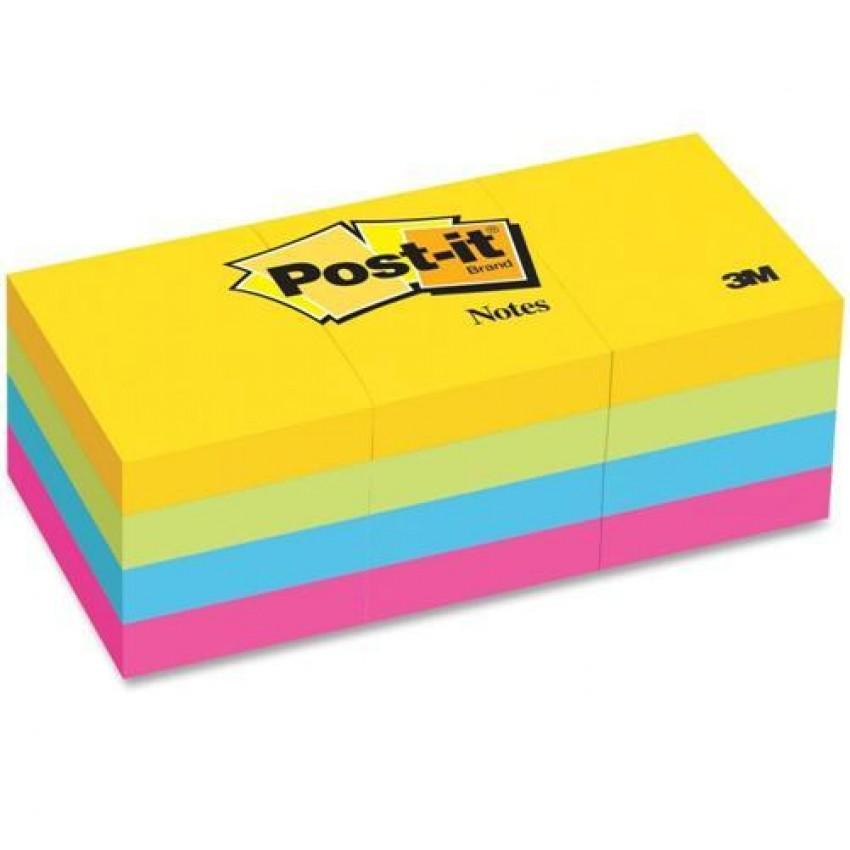 """Post It # 653AU (1.5x2)"""" 4color  3M"""
