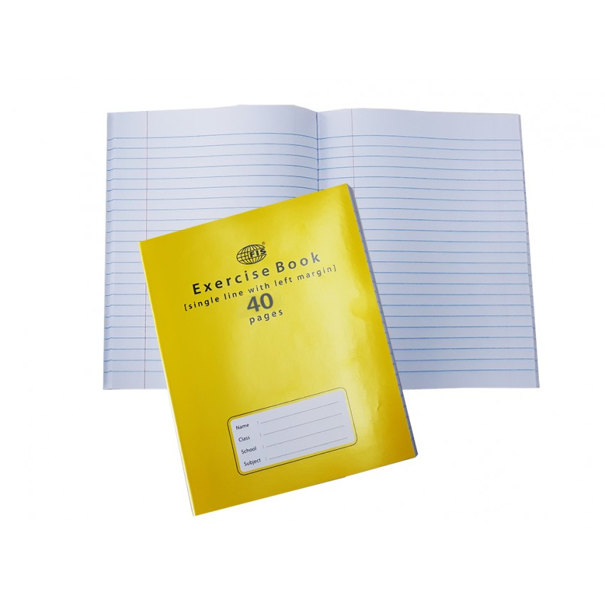 NoteBook 40pgs Single Line with Left Margin
