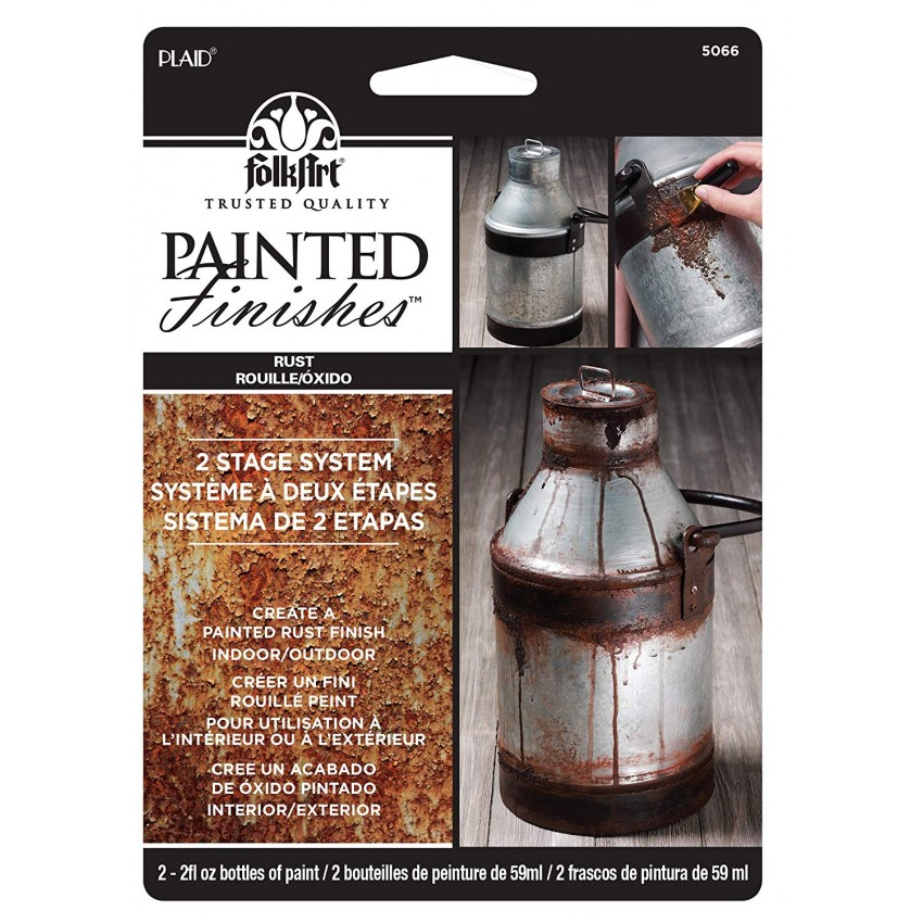 Folkart PAINTED FINISHES - CARDED RUST
