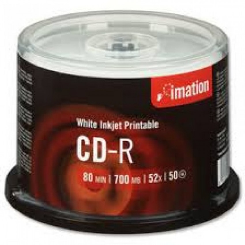 CD-R IMATION PRINTABLE SPINDEL OF 50PCS