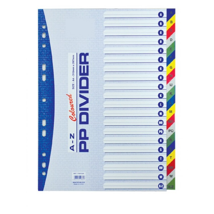 Divider (PVC) A-Z Colour A/4