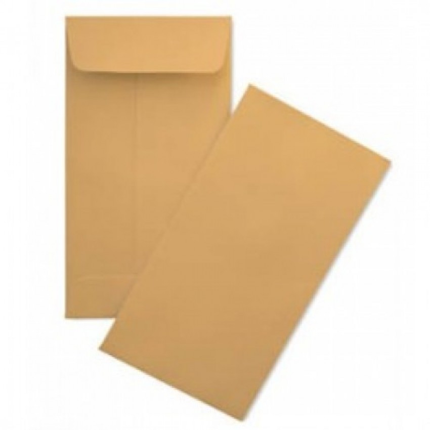 Envelope Brown (9x4) inches Top Open