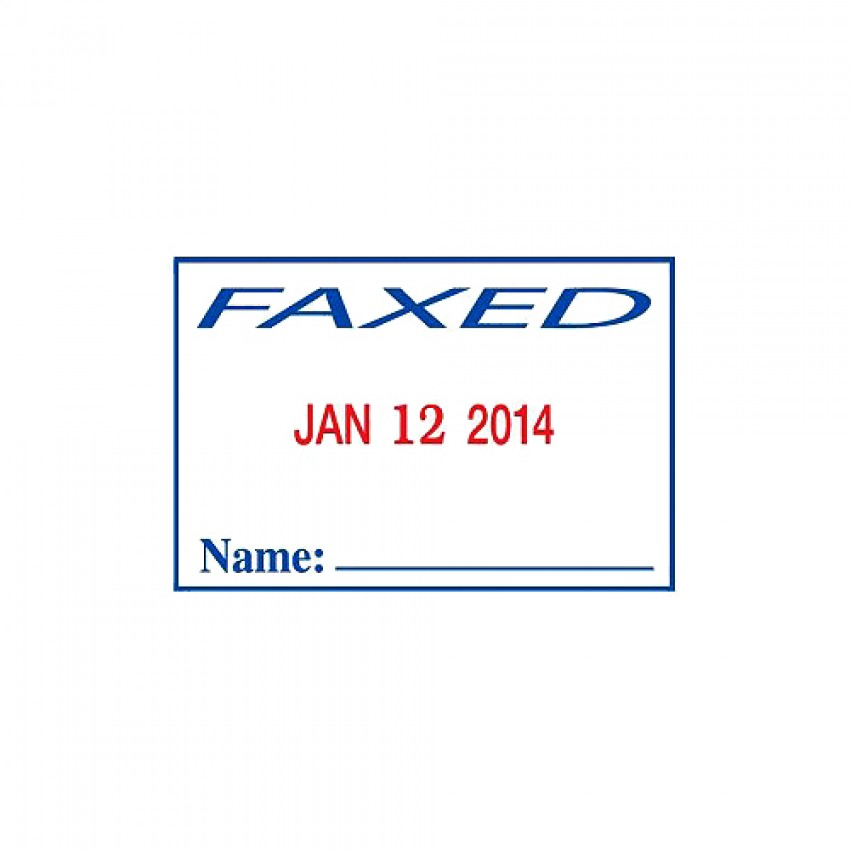 Self Ink Stamp - Faxed with Date