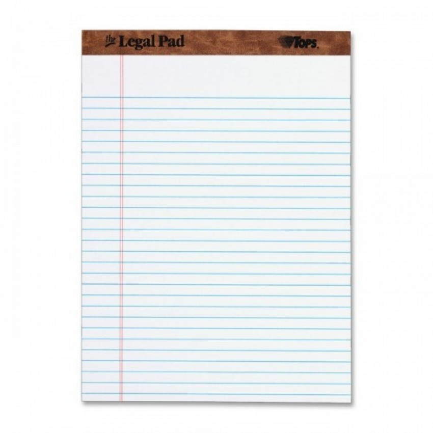 Legal Writing Pad A5 Size White