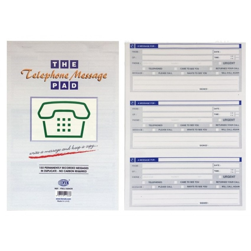 Telephone Message Pad FSCL1A5NCR
