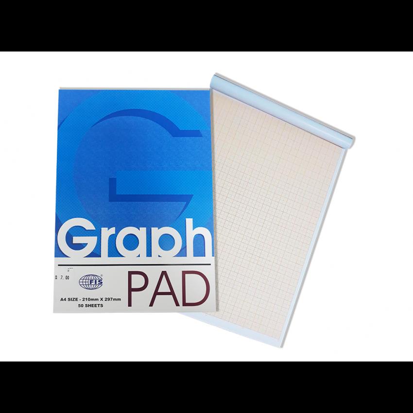 A4 Graph Pad (FIS)-50 Sheets