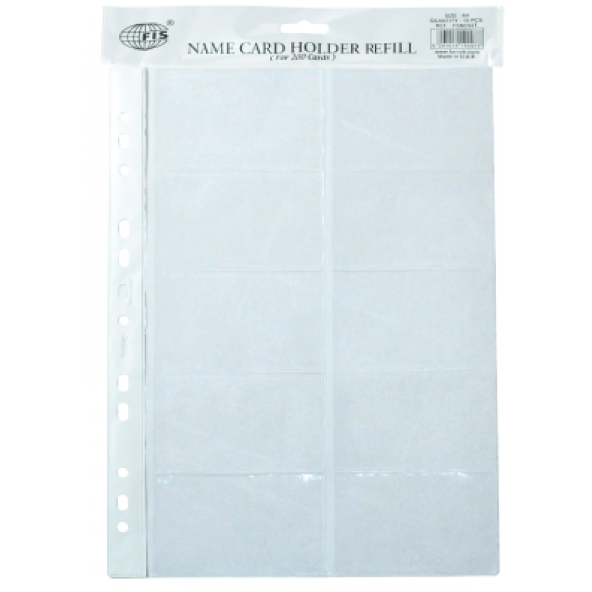 Business Card Holder Refill A4 Size