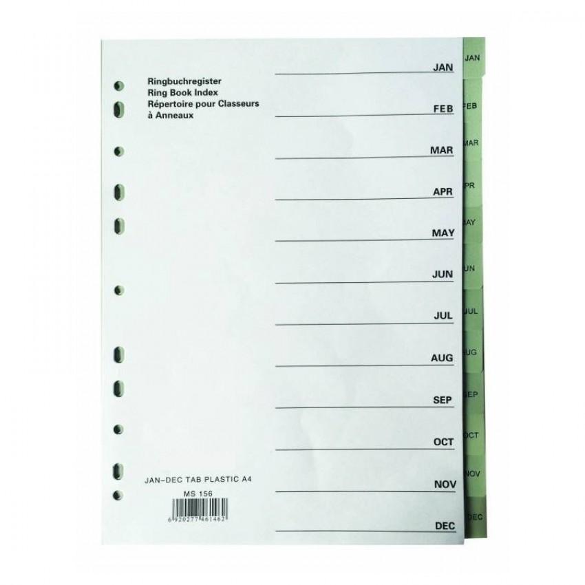 Divider PVC (Jan-Dec) A4 Gray
