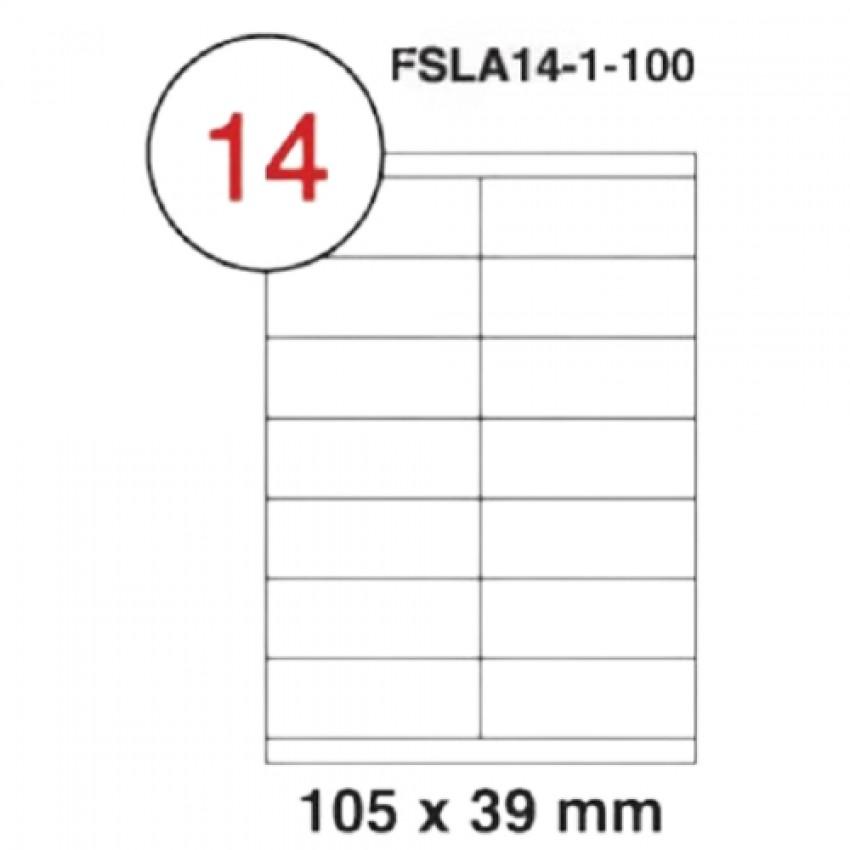 MULTI PURPOSE WHITE LABEL-105X39mm-FSLA14-1-100