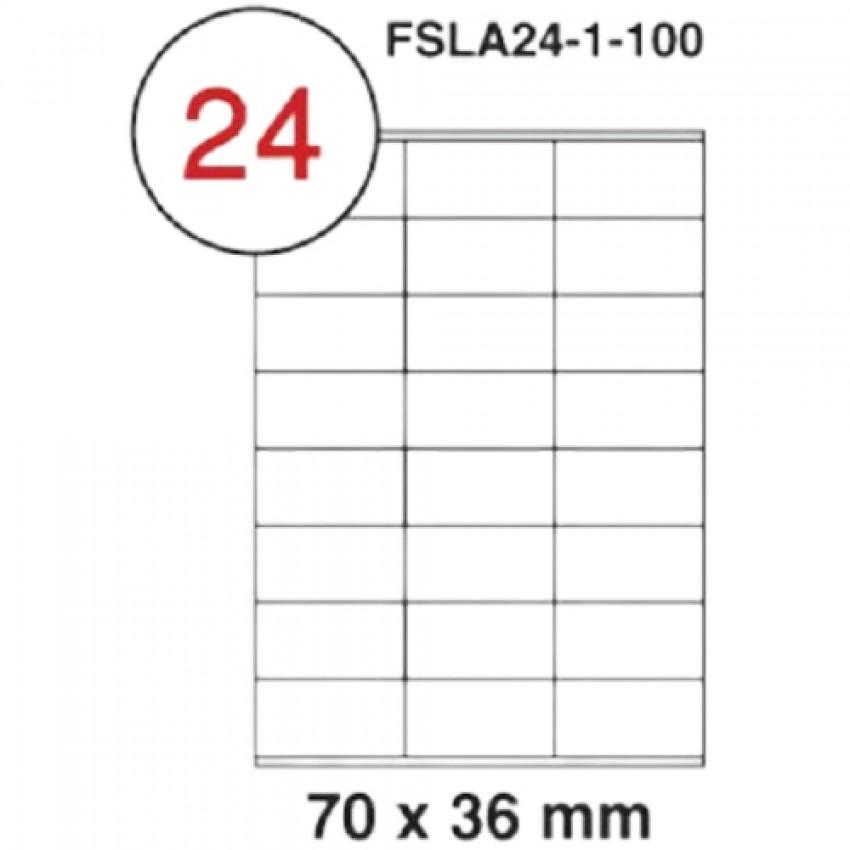MULTI PURPOSE WHITE LABEL-70X36mm-FSLA24-1-100