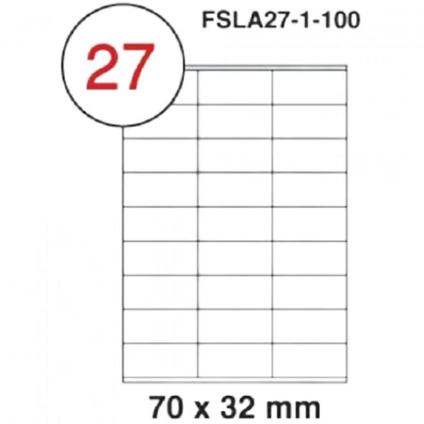 MULTI PURPOSE WHITE LABEL-70X32mm-FSLA27-1-100