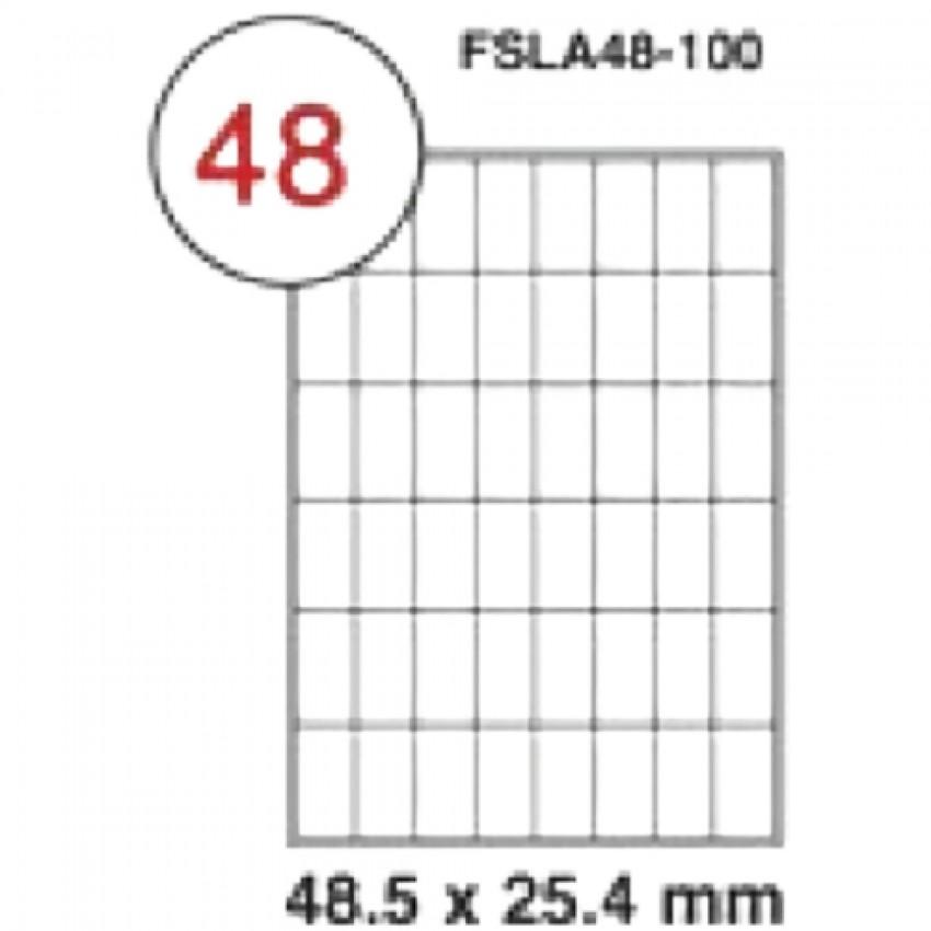 MULTI PURPOSE WHITE LABEL-48.5X25.4mm-FSLA44-100