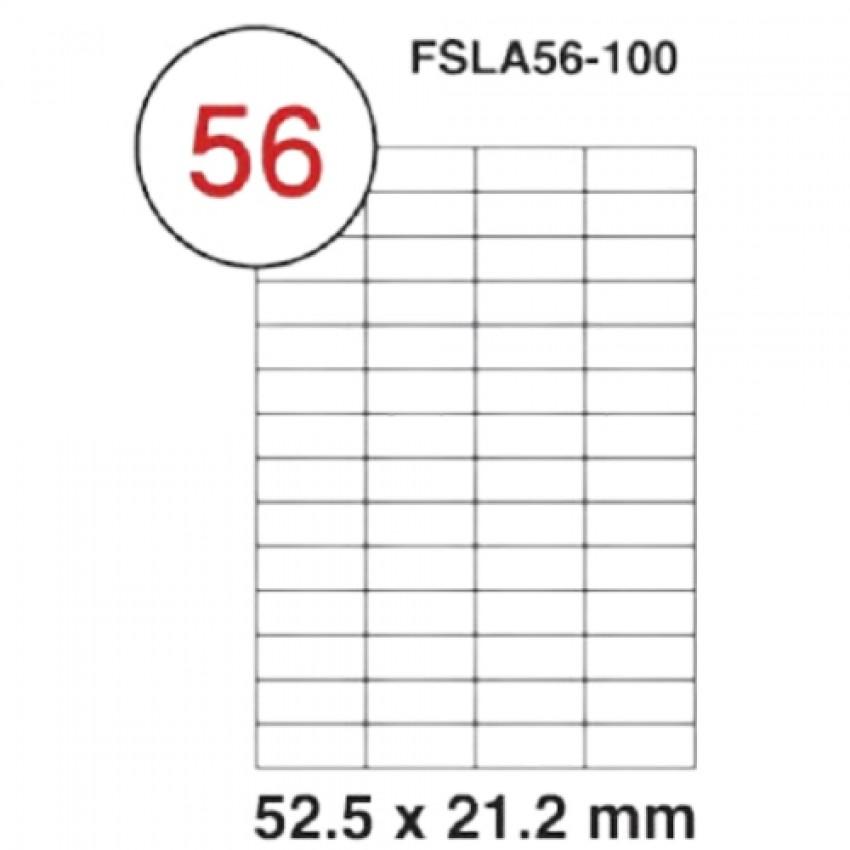 MULTI PURPOSE WHITE LABEL-52.5X21.2mm-FSLA56-100