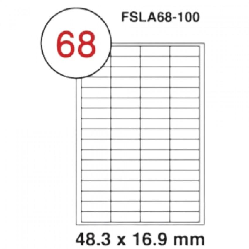 MULTI PURPOSE WHITE LABEL-48.3X16.9mm-FSLA68-100