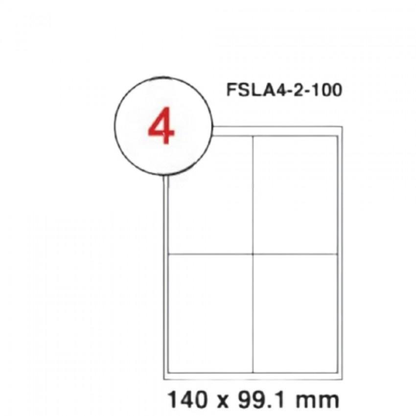 MULTI PURPOSE WHITE LABEL-140X99.1mm-FSLA4-2-100