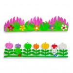 Decorative Border Craft Eva Flowers
