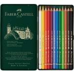 FABER-CASTELL Polychromos Artists Color Pencils Tin of 12 color