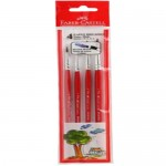 FABER-CASTELL Pony Hair Brushes Round Assorted pack of 4