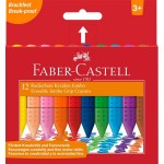 FABER-CASTELL Jumbo Grip Plastic Crayons Box of 12 colors