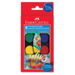 FABER-CASTELL Water Colors 8Color 24mm Hang-Sell - 120sets/ctn