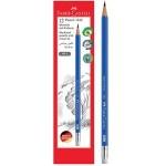 FABER-CASTELL Black Lead Pencil Blue with eraser tip