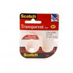 Scotch Transparent Tape in Dispenser 144. 1/2 x 450 in (12mm x 11.43m). 1 roll/dispenser