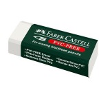 FABER-CASTELL Eraser PVC-free (green logo) white 48x