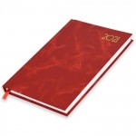 FIS A5 Diary 2021 English (Saturday & Sunday Combined) Red