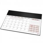 FIS Year Planner 2021 (Arabic/English) Italian PU with Desk Blotter, Black