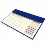 FIS Year Planner 2021 Italian PU with Desk Blotter (English/French) Blue