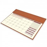 FIS Year Planner 2021 Italian PU with Desk Blotter (English/French) Brown