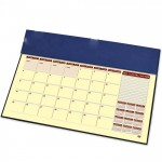 FIS Year Planner 2022 (English/French) with PVC Desk Blotter and Italian PU Flap, Blue