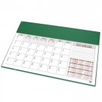 FIS Year Planner 2021 (Arabic/English) Italian PU with Desk Blotter, Green