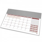 FIS Year Planner 2021 (English/French) with PVC Desk Blotter, Grey