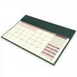 FIS Year Planner 2021 (English/French) Italian PU Desk Blotter, Green