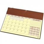 FIS Year Planner 2022 (Arabic/English) with PVC Desk Blotter and Italian PU Flap, Brown