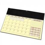 FIS Year Planner 2022 (Arabic/English) with PVC Desk Blotter and Italian PU Flap, Black