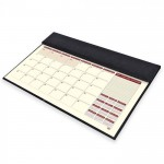 FIS Year Planner 2021 Italian PU with Desk Blotter (English/French) Black